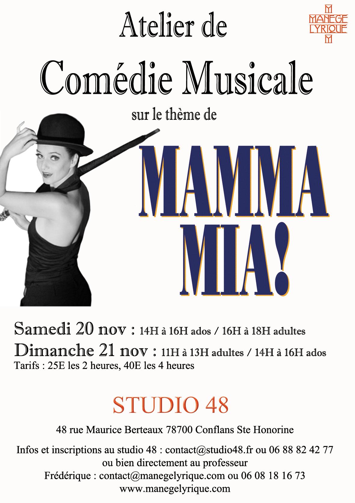 atelier de com u00e9die musicale   les 20 et 21 novembre 2010